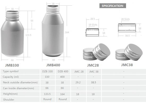 500ml Aluminum Beverage Bottles With DWI Screw Crown Cap For Beer Juice Coffee Drink