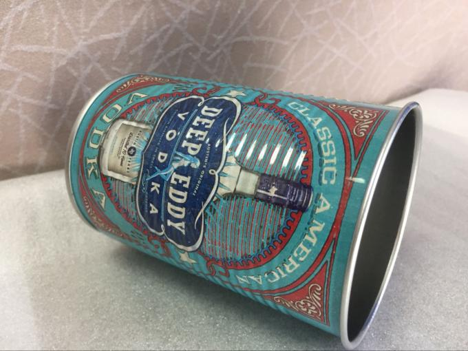 Empty Round 3pc Personalized Tin Cans , Metal Coffee Can 250ml Tinplate
