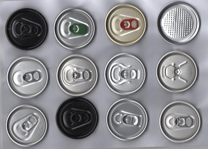 BPA Printed Easy Open Pop Can Lids , Soda Can Caps Custom Ring Pull Tab