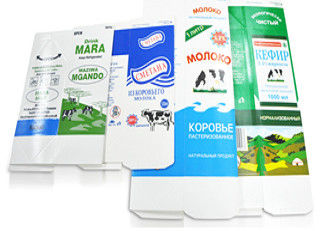 China Hot Filling Microwave Gable Top Carton Aseptic Packaging Material For Milk Juice supplier