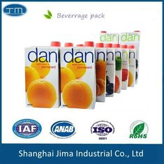Customized Printing Aseptic Carton Packaging Colorful Juice Paper Box With Screw Cap