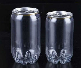 Soft Drink Beverage Solutions 250ml 330ML With Lid Plastic Material Transparent Color