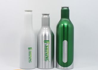 China Recycling Durable Aluminum Beer Bottles Aluminum Beverage Bottles UV Proof factory