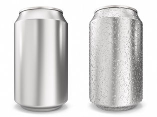 China Sleek 250ml Blank Aluminum Soda Cans Soft Drinking With Customized Shape supplier