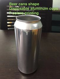 China Disposable aluminium cup like beer cans shape with smooth top edge factory