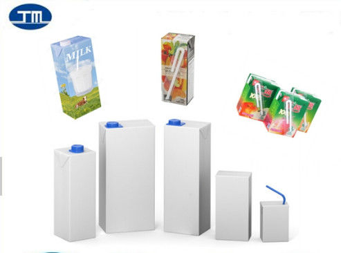 UHT Aseptic Carton Packaging Brick Package Drink Milk Square Paper Box supplier