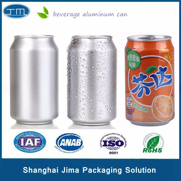 Slim Aluminum Beverage Cans 180ml 190ml Lid With Logo 200# Energy Drink