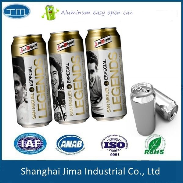 TPS Aluminum Beverage Cans Round Body Thickness 0.15-0.25mm Food Grade