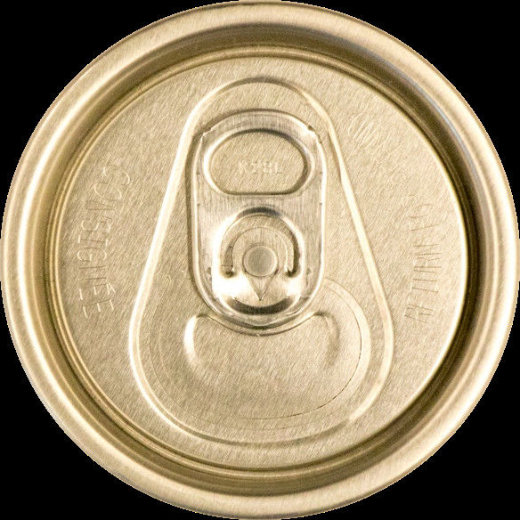 Carbonated Drink Beverage Drink Can Lids With Pull Tab Custom Logo Round Shape