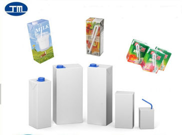 UHT Aseptic Carton Packaging Brick Package Drink Milk Square Paper Box