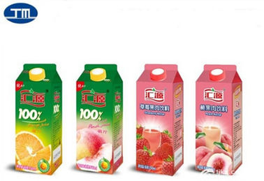 Paper Aseptic Carton Packaging Slim Drink Milk Packing Box Customized Printing